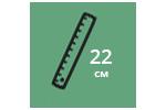 Высота матраса: 22 см