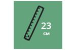 Высота матраса: 23 см