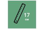 Высота матраса: 17 см
