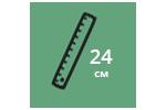 Высота матраса: 24 см
