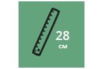 Высота матраса: 28 см
