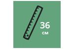 Высота матраса: 36 см